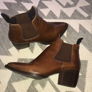 Topshop Brown Heeled Chelsea Ankle Boot - 37